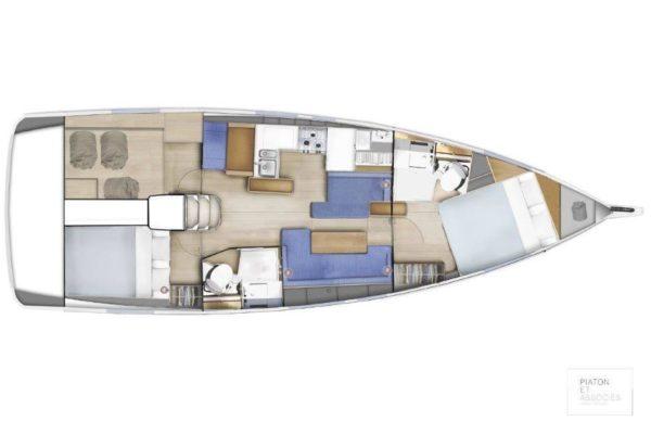 Sun Odyssey 410 Layout Yachtverkauf Yachting 2000