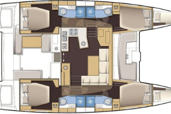 Lagoon 450 Sofia Yachting 2000 Charter Kroatien