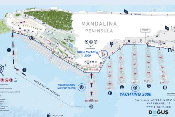 marina mandalina Yachting 2000 Charter