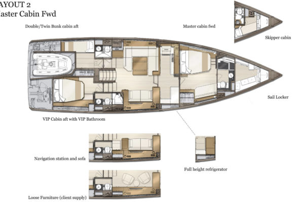 Layout 2 Master Cabin Fwd