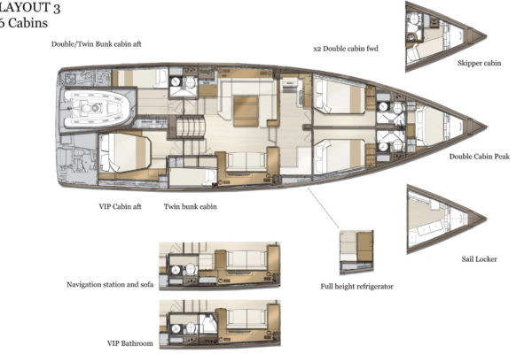 Jeanneau 60 Layout Yachting2000