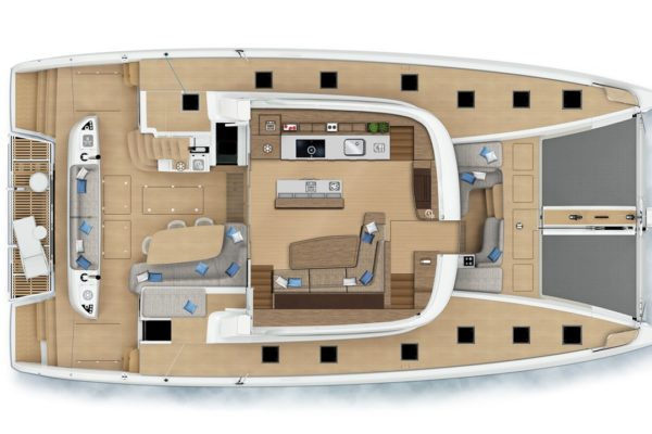 Lagoon SIXTY 5 Layout oben | Yachtcharter | Yachting 2000