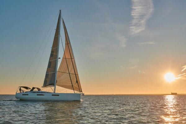 Jeanneau 60 Yachting2000 Sonnenuntergang