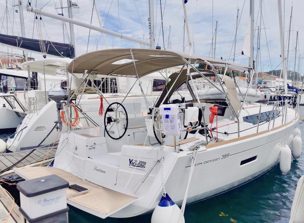 Yachting 2000 Sun Odyssey 389 Santana Segelyacht in Kroatien